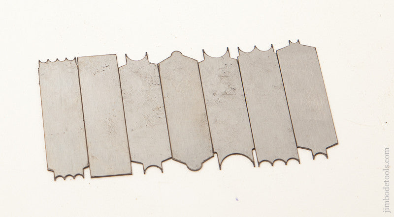 Full Set of 7 Repro Cutters for Stanley No. 66 Scratch Beader