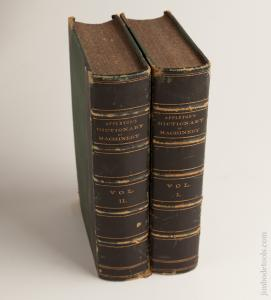 RARE Books: APPLETON'S DICTIONARY OF MACHINERY VOLUMES 1 & 2