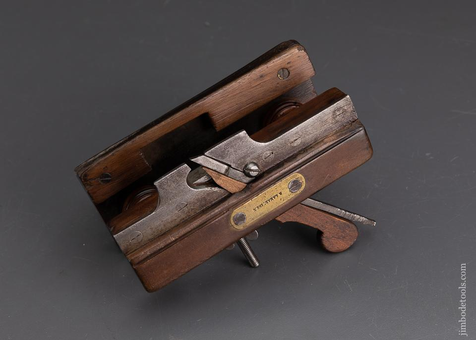 Miniature French Fruit Wood Coachmaker's Plow Plane R. LAMARTINE. C OWNER - EXCALIBUR 42