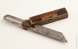 8 inch Rosewood and Brass HOWARD'S 1867 PATENT Bevel and Level by STAR TOOL CO. MIDDLETOWN CT.    74854R