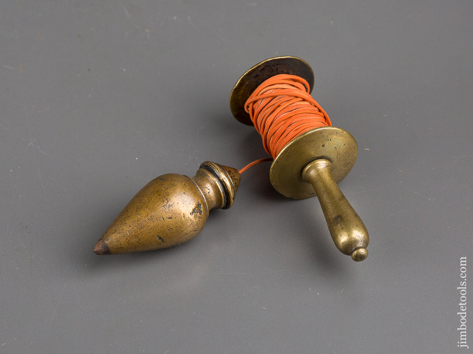 Beautiful Brass Plumb Bob with Shapely Reel - 47147