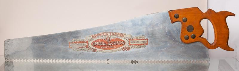 Magnificent! Giant 54 inch SPEAR & JACKSON Saw Trade Sign - 57652