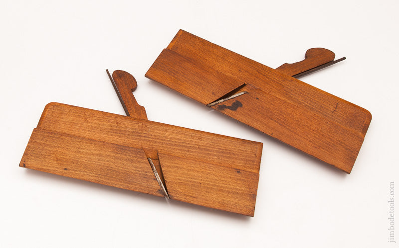 Near Mint! Unusual Stepped Form Side Round Moulding Planes by AMES LONDON circa 1800-52 - 59357U