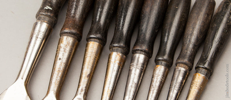 Extra Fine! Set of Eight Bevel Back Chisels by WINCHESTER - 60789Rr