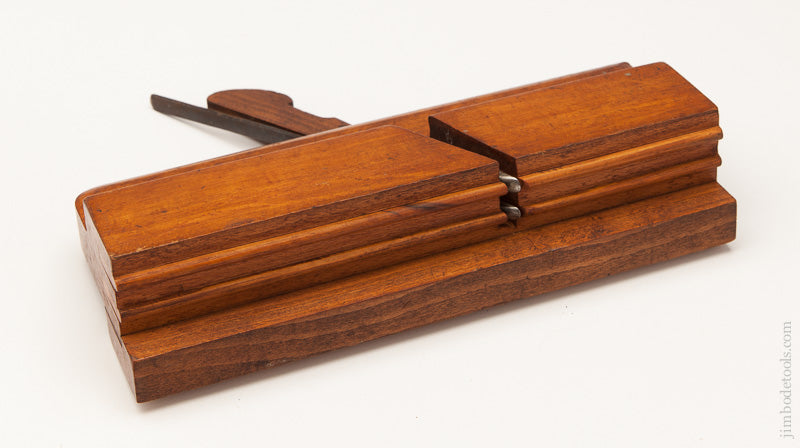 Extra-Fine! Crisp and Rare Double Flute Moulding Plane by BUCK 242 TOTTENHAM CT Rd circa 1880-1930 - 60857