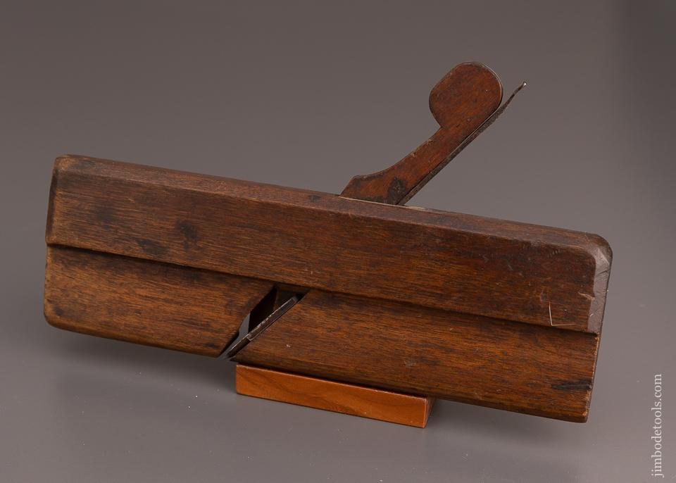 FINE Ten inch Long Yellow Birch 11/16 inch Round Molding Plane by E. NEWELL LANESBORO circa 1770-90 - 60984