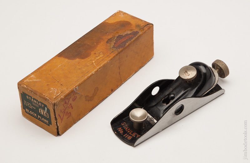 Fine STANLEY NO. 118 Block Plane in its Original Box - 61257R