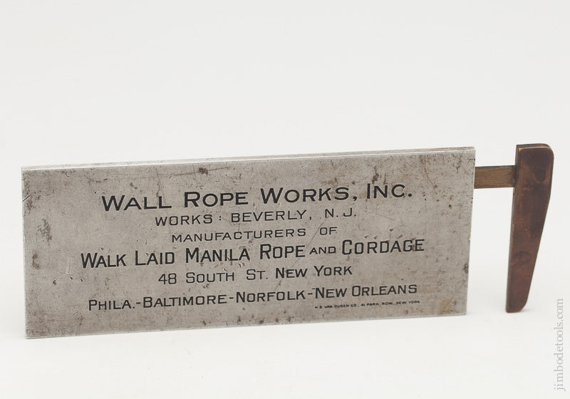 WALL WALKLAID Rope Calliper Rule Aluminum & Brass - 61539R
