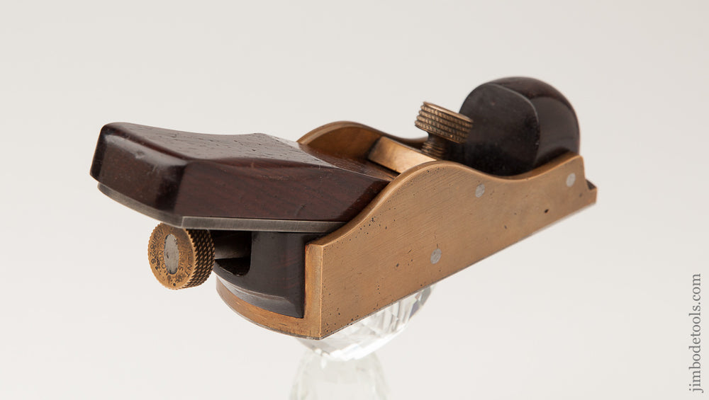 Extra Fine! NORRIS No. A31 Gunmetal and Rosewood Thumb Plane - 62378U