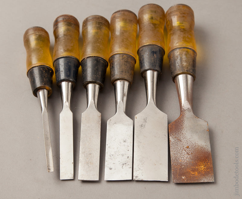 Set of Six STANLEY No. 60 Butt Chisels - 63274