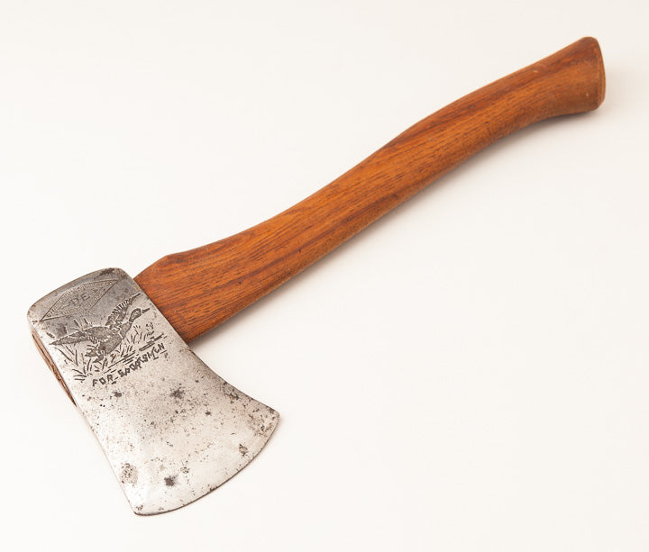 14 x 3 inch SHAPLEIGH HARDWARE CO. Embossed Hatchet - 63818R
