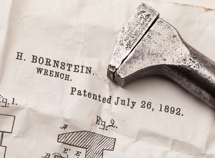 Rare 5 Inch BORNSTEIN July 26, 1872 PATENT Wrench - 63933R