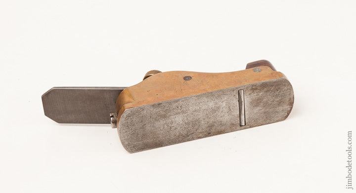 NORRIS NO. 31 Gunmetal and Rosewood Thumb Plane with Rosewood Infill and Original NORRIS Iron - 64889RU