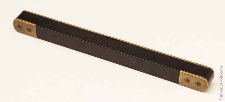 Fine and Fancy Ebony and Brass Ten Inch BEARDSHAW Level - 65293R