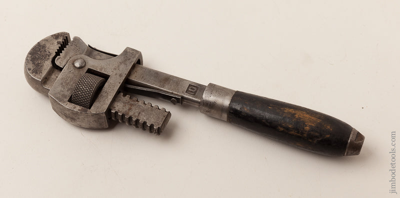 Rare STANLEY No. 10 Pipe Wrench SWEETHEART - 66310