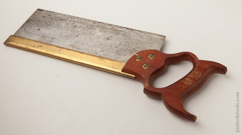 Nearly New 15 point 12 inch Rip W. TYZACK, SONS & TURNER SHEFFIELD NONPAREIL No. 120 Brass Back Saw - 66511