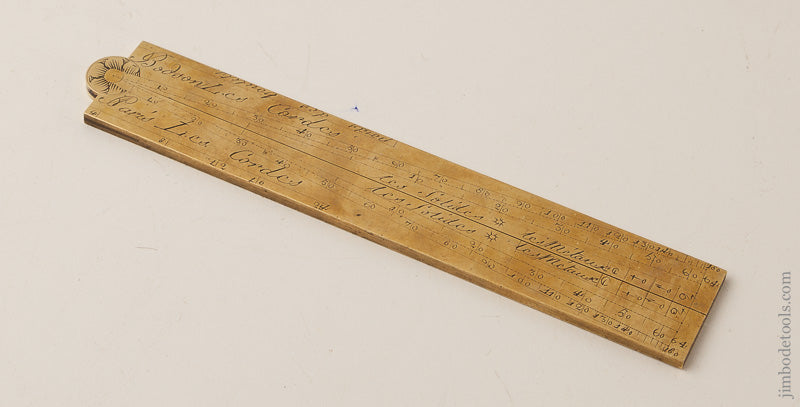 18th Century Brass Sector Rule Signed BODSON circa 1800 - 66625U