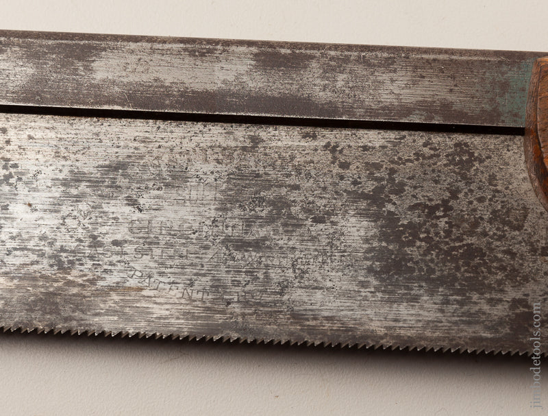15 point 8 inch Crosscut Back Saw by CINCINNATI SAW COMPANY Sharpened by BLACKBURN TOOLS - 66716