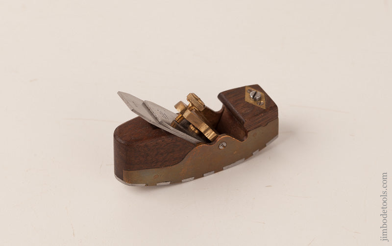 Beautiful Miniature 2 1/2 x 3/4 inch Adjustable Curved Sole Smooth Plane Signed FPR FECIT 2008 - 66727U