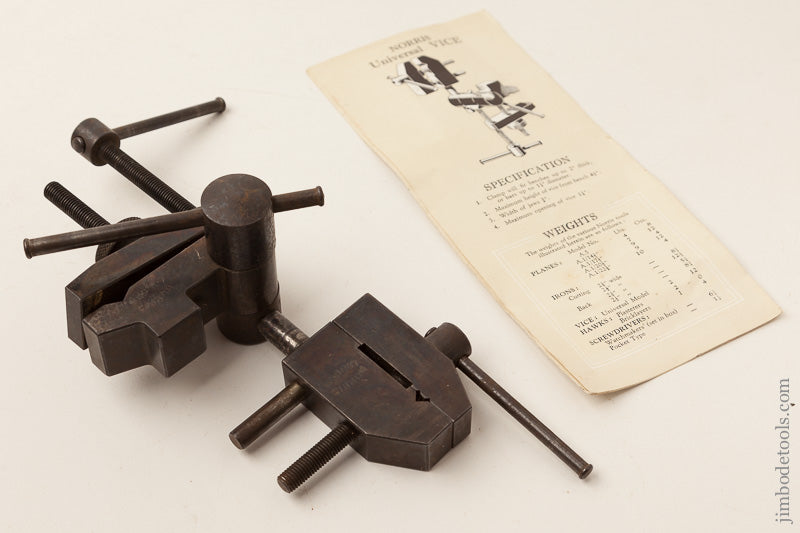 Rare! NORRIS Vice with Original Tool Catalogue Vise - 66748