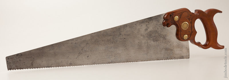 The Finest Panther Saw Handle We Have Ever Seen! by WOODROUGH & MCPARLIN CINCINNATI with 18 inch Blade - 66881U