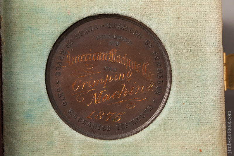 Rare 1875 Prize Medal from CINCINNATI INDUSTRIAL EXPOSITION - 67457R