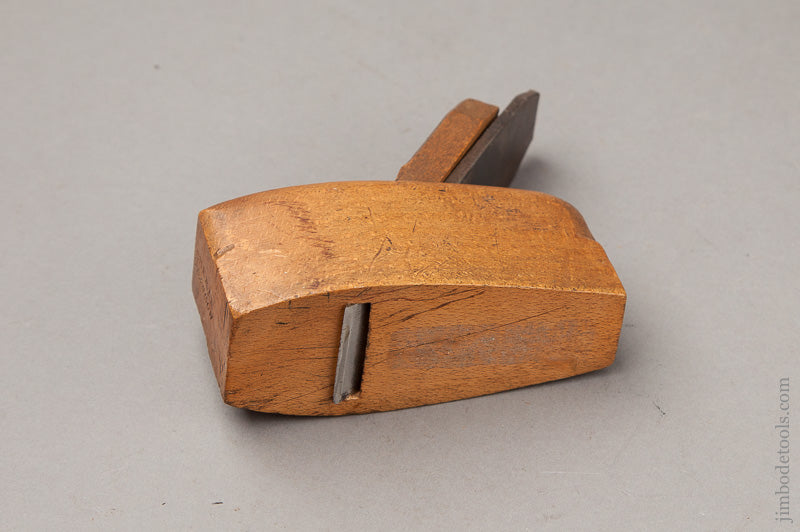 3 3/4 inch Beech Coffin Plane by CURRIE GLASGOW circa 1828-1875 - 67492R