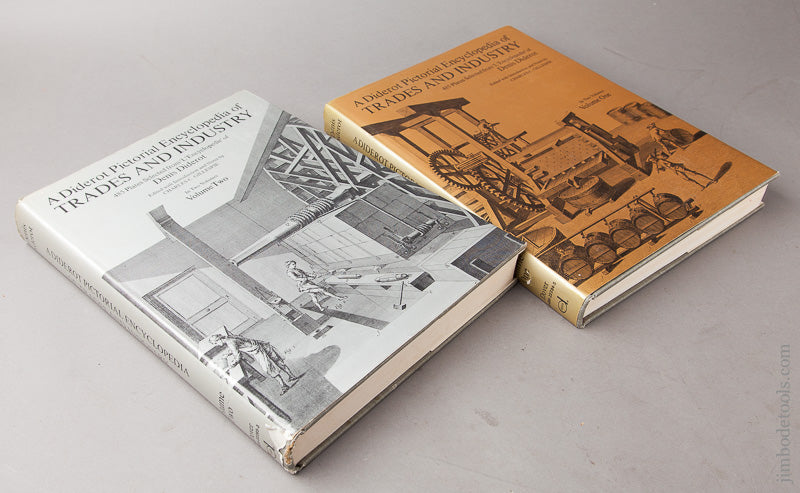 Books: A DIDEROT PICTORIAL ENCYCLOPEDIA OF TRADES AND INDUSTRY Denis Diderot Volumes 1 And 2 Reprint 1959 - 67600R