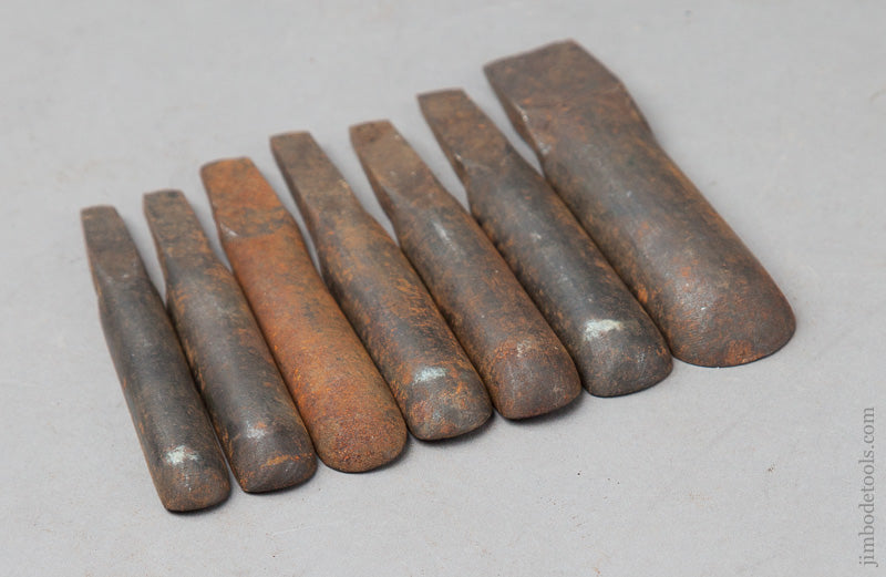 Graduated Set of Seven 18th Century Chairmaker's Spoon Bits by GLASCOTT - 67771R