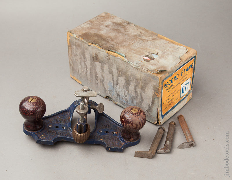 RECORD No. 071 Router Plane 100% Complete in Original Box - 67817