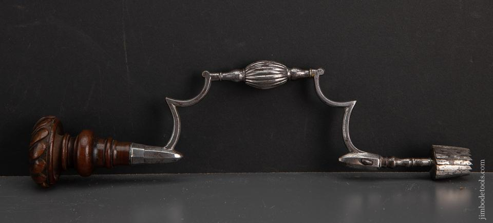 Stunning! Early Surgeon's Brace with Carved Walnut Head - EXCALIBUR 67