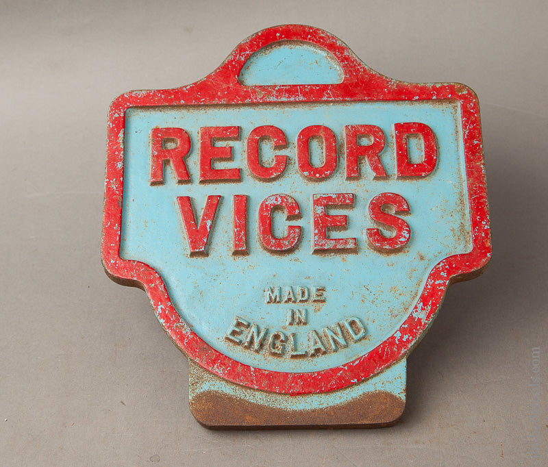 Cast Iron RECORD Hardware Store Plaque - 68111U