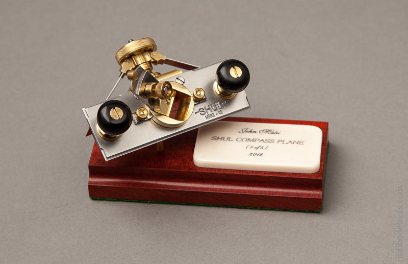 Miniature 2 3/4 inch SHUL Compass Plane by JOHN MAKI 2012 with Stand in Original Box - 68417U