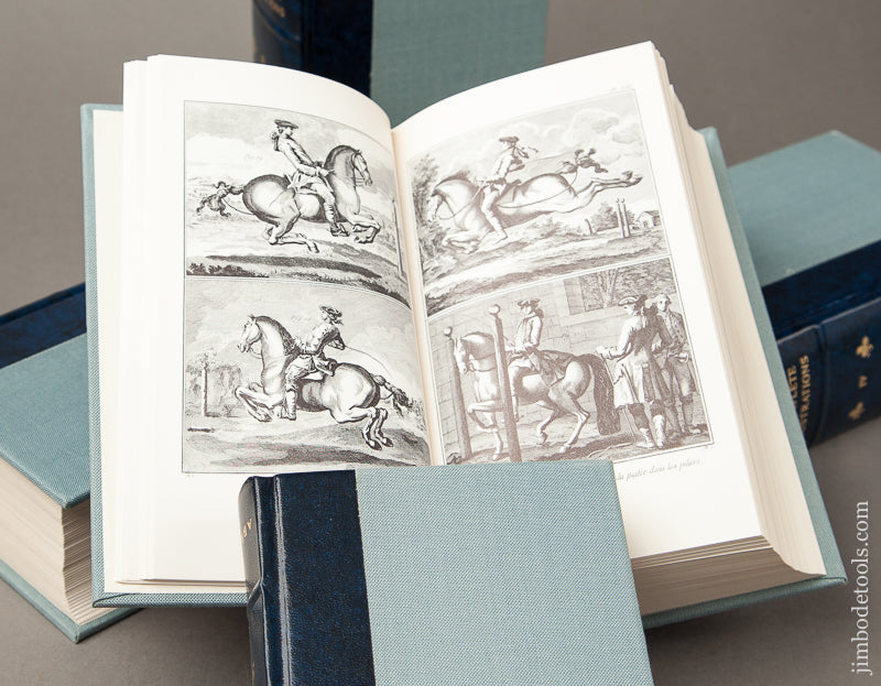 Super RARE Magnificent Set of Limited Edition Leather Bound Books :  DIDEROT THE COMPLETE ILLUSTRATIONS Boxed Set MINT - 68832