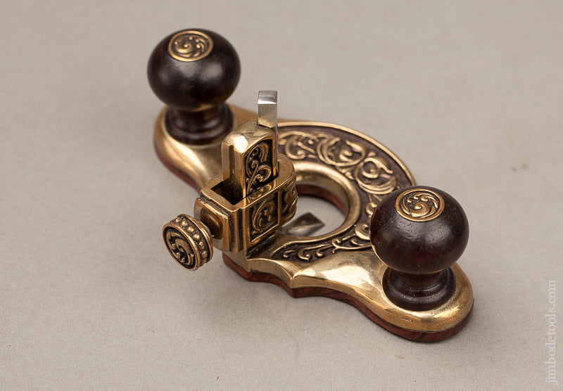 Beautiful Brass and Rosewood Miniature Router Plane by PAUL HAMLER - 68849U