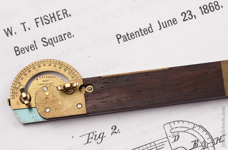 Magnificent! Miniature Four inch FISHER June 23, 1868 Patent Bevel by PAUL HAMLER - 68872U