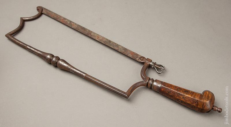 STUNNING 18th Century Surgeon's Saw with Burl Handle - 68988U
