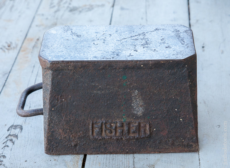RARE Sawmaker's 74 lb Anvil with Dual Mark FISHER ATKINS Dated 1907 - 69803