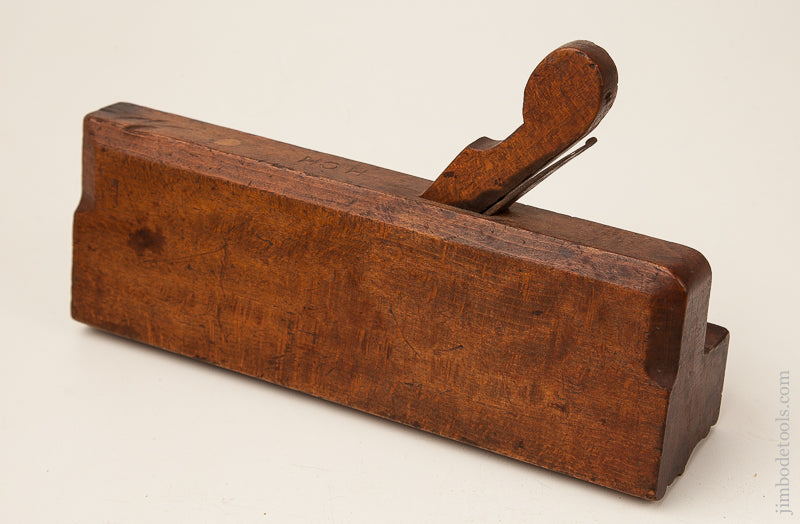 2 3/8 inch Wide Ten inch Crispy Complex Molding Plane by I. SLEEPER Newburyport, MA circa 1780-92 - 70170