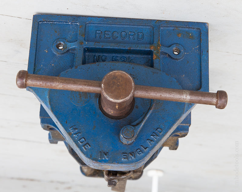 Fine and Flawless RECORD No. 52 1/2 Vintage Heavy Duty Quick Release Woodworking Vise - 70646