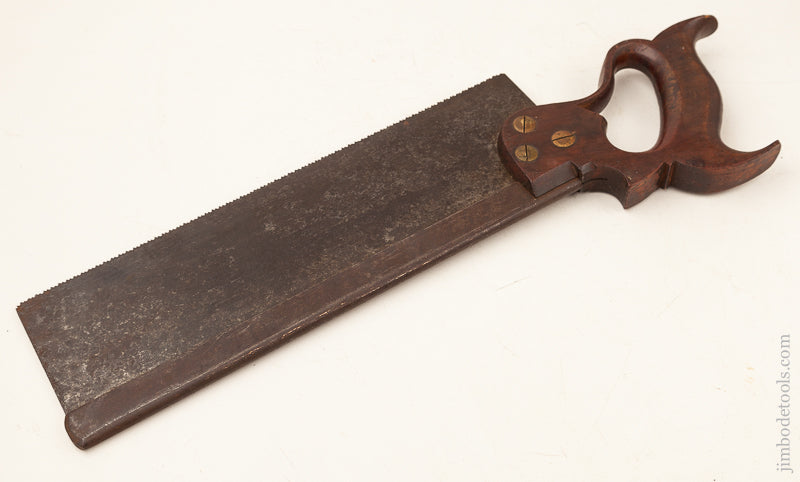 Just Sharpened! 13 point 12 inch Crosscut DISSTON Back Saw circa 1876-87 - 71382