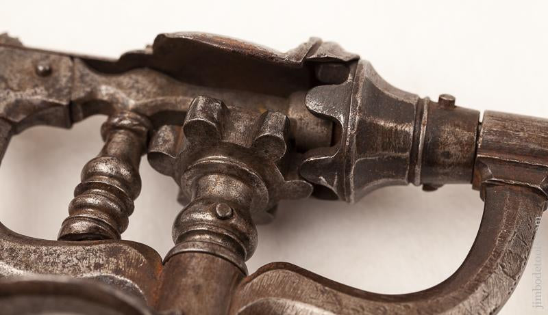 17th/18th Century Exquisitely Crafted Museum Quality Ten inch Cam Drive Drill - EXCELSIOR 72723