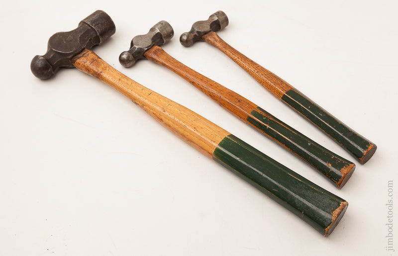Great Set of Three PASCHALL Ball Peen Hammers 4, 6 & 16 ozs. - 73071