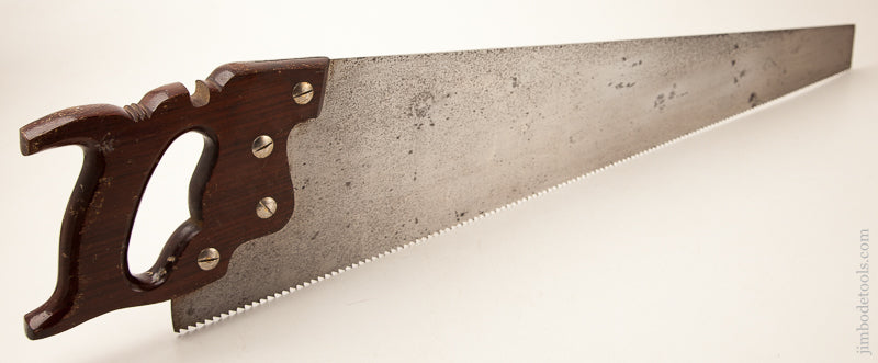 5 1/2 point 26 inch Rip ATKINS No. 401 THE FOUR HUNDRED Hand Saw with Rosewood Handle - 73160