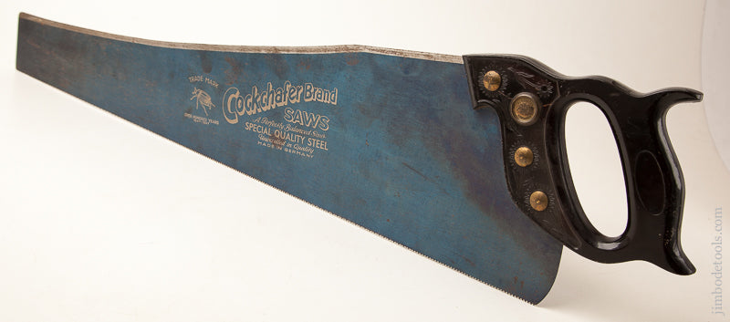 11 point 26 inch Crosscut COCKCHAFER Hand Saw Made in Germany Bakelite Handle - 73456R