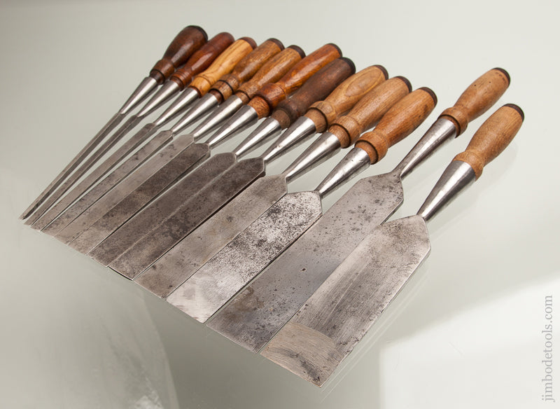 Great Complete Set of 12 WITHERBY Socket Firmer Chisels - 73870