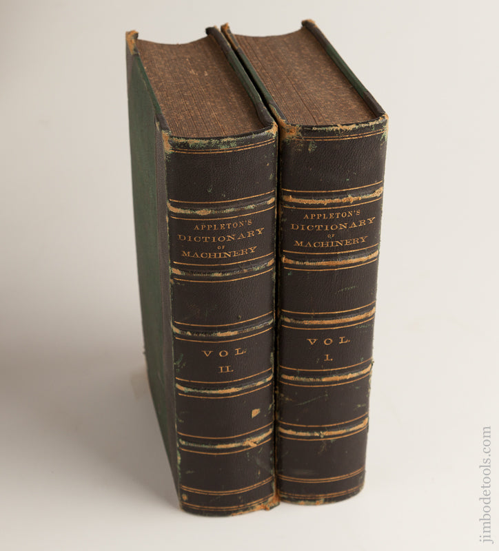 RARE Books: APPLETON'S DICTIONARY OF MACHINERY VOLUMES 1 & 2 - 73957U