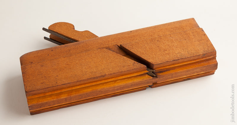 Double Left and Right 1/4 inch Side Bead Molding Plane by J. KELLOGG AMHERST MS circa 1848-49 NEAR MINT - 74066