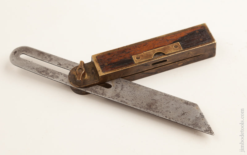 8 inch Rosewood and Brass HOWARD'S 1867 PATENT Bevel and Level by STAR TOOL CO. MIDDLETOWN CT.    74854R - 74854R