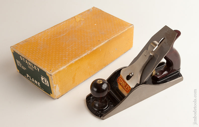 100% Complete STANLEY No. 4 1/2 Smooth Plane Type 16 circa 1933-47 NEARLY DEAD MINT! In Original Box = 75574